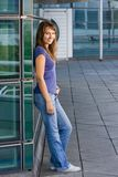 Attractive young teenage girl Stock Photo
