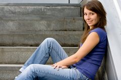 Attractive young teenage girl Royalty Free Stock Image