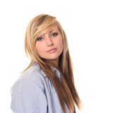 Attractive young teenage girl Stock Photos
