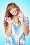 Attractive young teenage girl in love Royalty Free Stock Photography