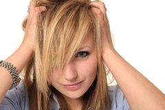 Attractive young teenage girl portrait Stock Image