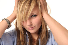 Attractive young teenage girl portrait Royalty Free Stock Photo