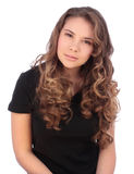 Attractive young teenager looking to camera Stock Photography