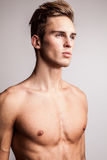 Attractive young undressed man model. Royalty Free Stock Photos