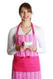 An attractive young waitress  Royalty Free Stock Photo