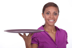 Attractive young waitress Royalty Free Stock Photography