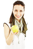 Attractive young woman with an apple Stock Photography