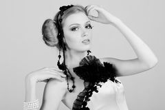 Attractive Young Woman in Black stock photos