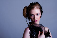Attractive Young Woman in Black royalty free stock image