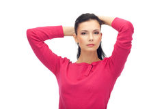 Attractive young woman in blouse isolated Royalty Free Stock Image