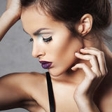 Attractive young woman with bright make up Royalty Free Stock Images