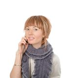 Attractive Young Woman Call By Cellular Phone Stock Photography