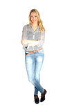 Attractive young woman in casual clothing Royalty Free Stock Photography