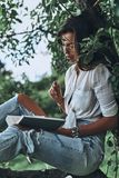Lost in a good book. Stock Photography