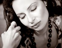 Attractive young woman in chains Royalty Free Stock Image