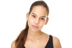 Attractive young woman with clean natural make up Stock Photography