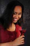 Attractive young woman with cocktail Stock Photography