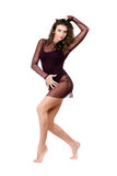 Attractive young woman in dance leotard Stock Photography