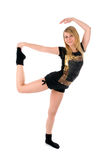 Attractive young woman dancing Royalty Free Stock Images