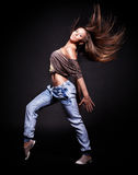 Attractive young woman dancing, Royalty Free Stock Photography