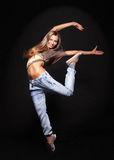 Attractive young woman dancing, Stock Photo