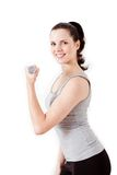 Attractive young woman doing fitness dumbbell Royalty Free Stock Photography