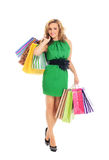 Attractive young woman doing shopping Royalty Free Stock Image