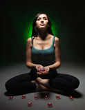 Attractive young woman doing yoga Stock Photo