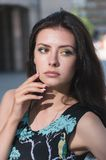 Attractive young woman in dress Royalty Free Stock Image
