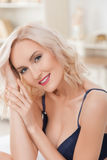 Attractive young woman is evincing her desire Royalty Free Stock Images