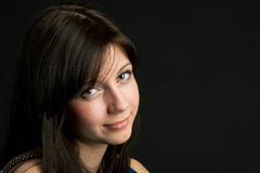 Attractive young woman face Stock Image