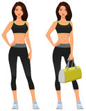 Attractive young woman in fitness sporstwear Stock Images