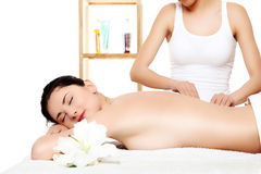Attractive young woman getting spa treatment Royalty Free Stock Images