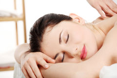 Attractive young woman getting spa treatment Stock Photo