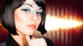 Attractive young woman. With glam make up Royalty Free Stock Photo