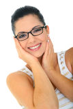 Attractive Young Woman With Glasses royalty free stock images