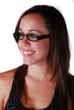 Attractive young woman in glasses Stock Photos