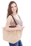 Attractive young woman going shopping Royalty Free Stock Photo