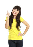 Attractive young woman got an idea Royalty Free Stock Images
