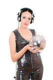 Attractive young woman in headphones Royalty Free Stock Image