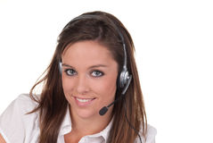 Attractive young woman with headphones Royalty Free Stock Image