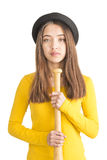 Attractive young woman holding baseball bat Royalty Free Stock Image