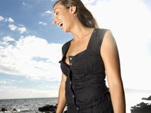 Attractive Young Woman Laughing Royalty Free Stock Photo