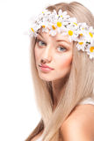 Attractive young woman with long hair Royalty Free Stock Photography