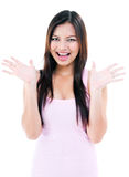Attractive Young Woman Looking Surprised Royalty Free Stock Photo