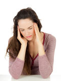 Attractive young woman with migraine Stock Photo