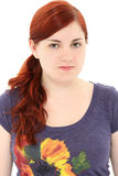 Attractive Young Woman no Make-up Royalty Free Stock Image