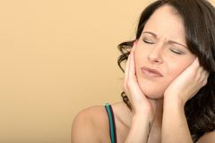 Attractive Young Woman With a Painful Toothache Royalty Free Stock Images