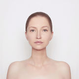 Attractive young woman. With perfect skin Royalty Free Stock Images