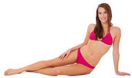 Attractive young woman in pink bikini Stock Image